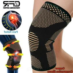 Cooper Knee Support Braces Compression Pad Sleeve Fitness Ru