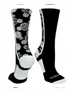 MadSportsStuff Crazy Volleyball Logo Crew Socks