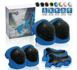 CRZKO Kids Protective Gear, Knee Pads and Elbow Pads6 in 1 S