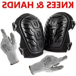 Cut Resistant Gloves + Professional Knee Pads Heavy Duty Foa