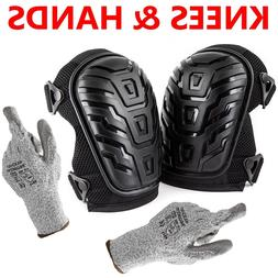 Cut Resistant Gloves + Professional Knee Pads Heavy Duty Foa
