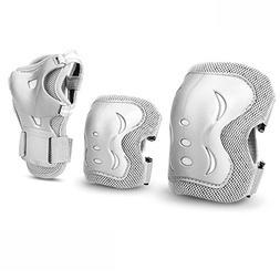 JBM Kids & Adults Cycling Roller Skating Knee Elbow Wrist Pr