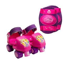 Disney Princess Kid's Rollerskates with Knee Pads, Junior Si