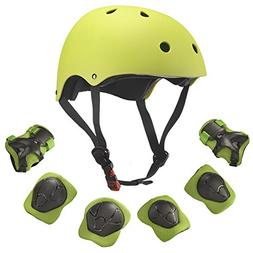 Dostar Kids Youth Adjustable 7Pcs Sports Protective Gear Set