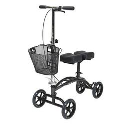 Drive Medical Dual Pad Steerable Knee Walker with Basket, Al