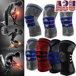 Elastic Compression Sleeve Knee Support Brace Knee Pads Bask