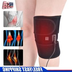 Electric Self Heating Knee Pads Brace Therapy Support Belt M