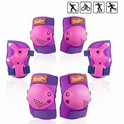 ENilecor Kids/Youth Roller Skates Cycling Knee Pads Elbow Wr