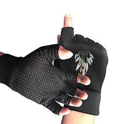 Flexible Boho Dreamcatcher Half Finger Fingerless Gloves For