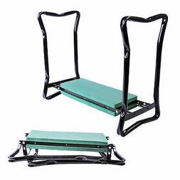 Outsunny Folding Garden Kneeler/Kneeling Bench Chair, Green