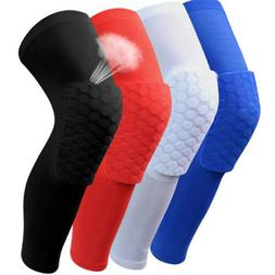 Hex Sponge Protective Knee Pads Basketball Leg Sleeves Compr
