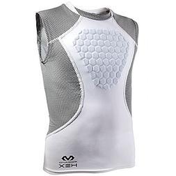 McDavid Hex Sternum Shirt, Youth Large, White/Gray