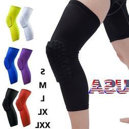 Honeycomb Knee Pad Basketball Crashproof Antislip Leg Long S