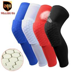 Honeycomb Knee Pad Basketball Crashproof Antislip Leg Long S