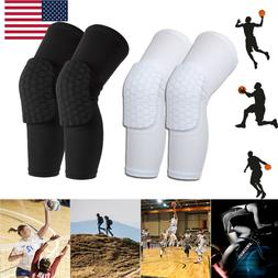 Youth Honeycomb Pad Leg Support Knee Sleeve Protector Brace