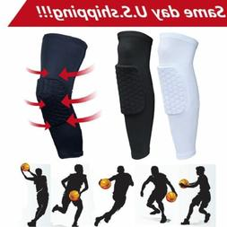 Honeycomb Padded Knee Sleeves 1 Pair Basketball Volleyball K