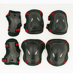 HOT 6pcs/set Skating Protective Gear Set Elbow <font><b>pads