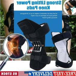 HOT! Power Knee Stabilizer Pads Powerful Rebound Spring Forc