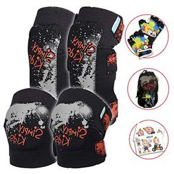 Innovative Soft Kids Knee and Elbow Pads with Bike Gloves  