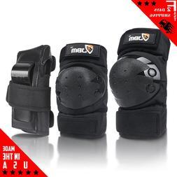 JBM international JBM Adult Knee Pads Elbow Pads Wrist Guard
