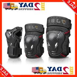 JBM BMX Bike Knee Pads and Elbow with Wrist Guards Protectiv