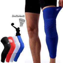 kid adult basketball leg knee pad long