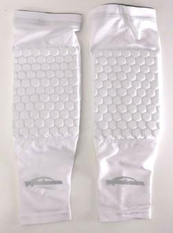 Coolomg Kids Adult Pads Crashproof Basketball Knee Sleeve Wh