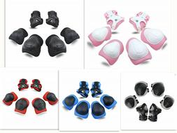 Kids Protective Gear Knee Pads Elbow With Wrist Guards for S
