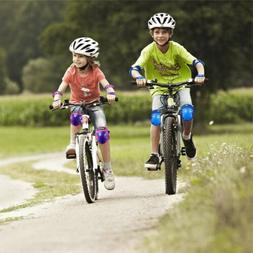 KUYOU Kids Protective Gear Knee Pads Elbow Wrist Guards BMX