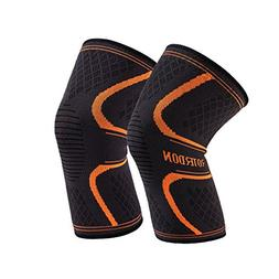 Sports Knee Brace Support Sleeves, Roterdon Athletic Compres
