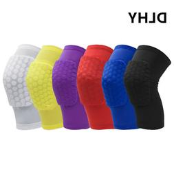 DLHY Knee Guards Extended Support short Leg Sleeves Hex pad