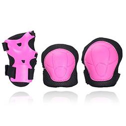 Knee Pads and Elbow with Wrist Guards Protective Gear Kids 6