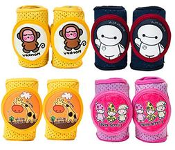 Baby Knee Pads Anti-Slip Walking Kneepads Adjustable Velcro