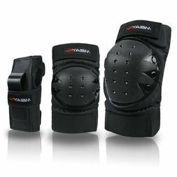 Misayar Knee Pads Elbow Pads Wrist Guards 3 In 2 Protective