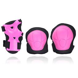 eNilecor Kid's Knee Pads Elbow Pads Wrist Guards for Skatebo