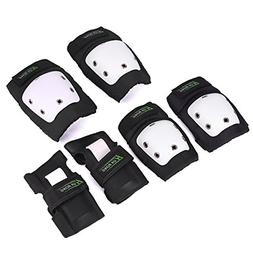 Knee Pads Elbow Pads Wrist Guards 3 in 1 Set For Skateboardi