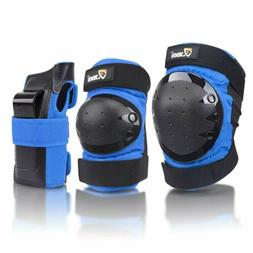 JBM Adult Knee Pads Elbow Wrist Guards 3 In 1 Protective Gea