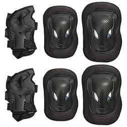 Adult Knee Pads Elbow Pads Wrist Guards 3 In 1 Set for Mount