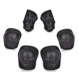 eNilecor Kid's Knee Pads Elbow Pads Wrist Guards for Inline
