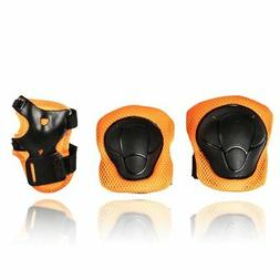 eNilecor Kids Knee Pads Elbow Pads Wrist Guards for Skateboa