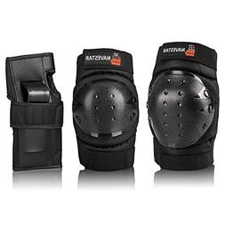 NAVESTAR Knee Pads Elbows Pads Wrist Guards 3 in 1 Protectiv