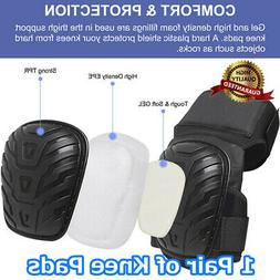 Knee Pads - For Work Adjustable Gel Cushion Flooring Gardeni