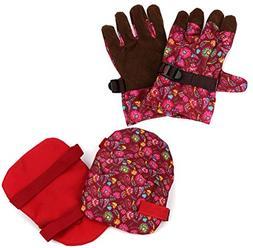 Finelady Knee Pads and Garden Gloves Set for Women - Adjusta