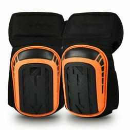 Knee Pads Gel Cushion Anti-Slip Straps for Work Flooring Con