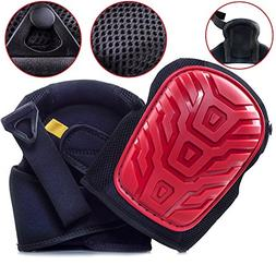 Professional Knee Pads - EASY TO WEAR Heavy Duty Memory Foam