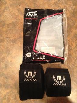 Mava Sports Knee Wraps Pair for Cross Training WODs Gym Work