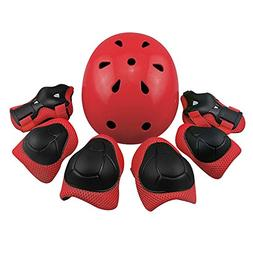 Kid's Protective Gear Set,Child Helmet Knee Pads Elbow Pads
