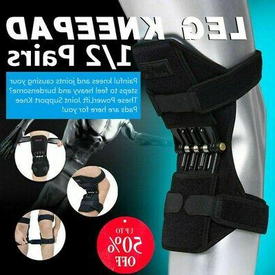 Power Knee Stabilizer Pad Lift Joint Support Powerful Black