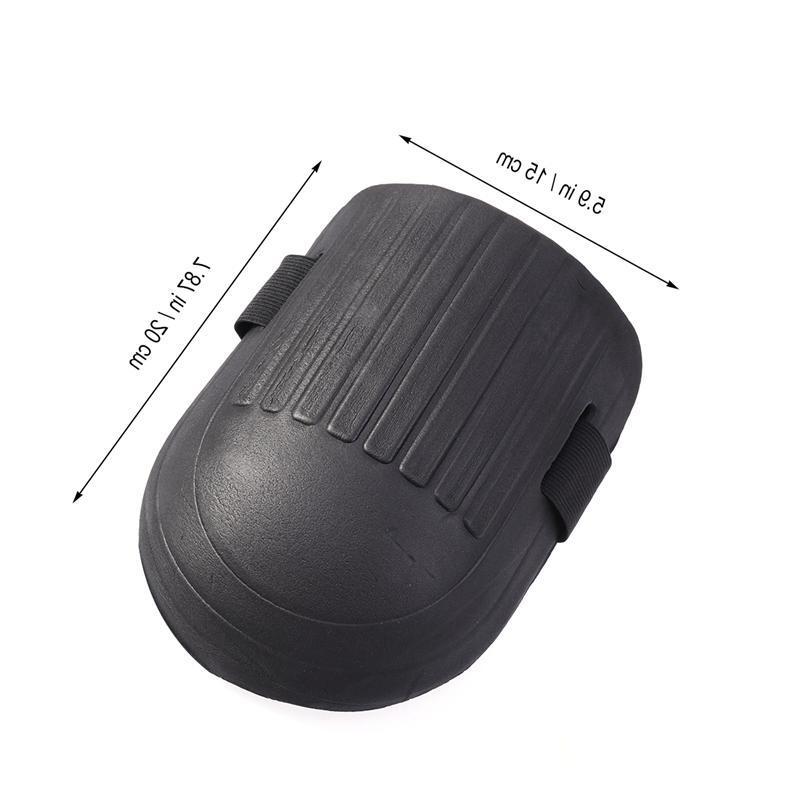 1 Pair Protective Gear Soft <font><b>Knee</b></font> with <font><b>Foam</b></font> Cushion Liner Black