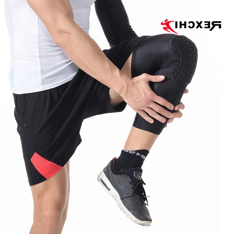 REXCHI <font><b>Pads</b></font> Honeycomb Elastic Protective Gear Patella Support